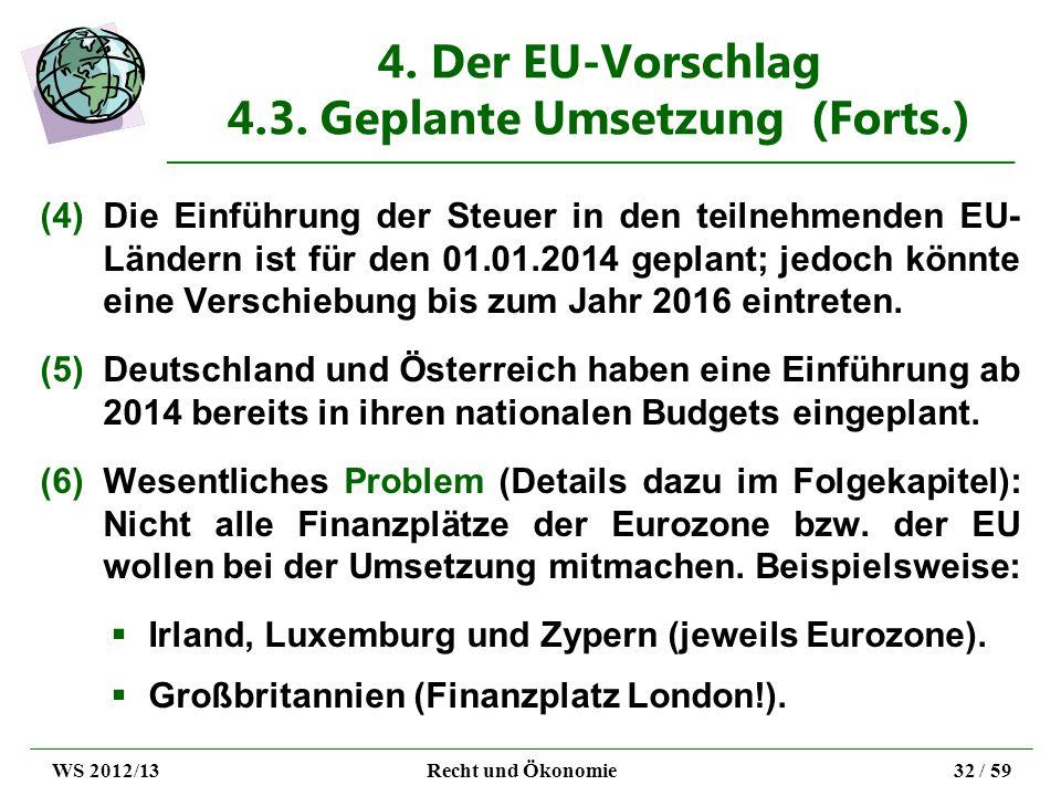 4. Der EU-Vorschlag 4.3. Geplante Umsetzung (Forts.)