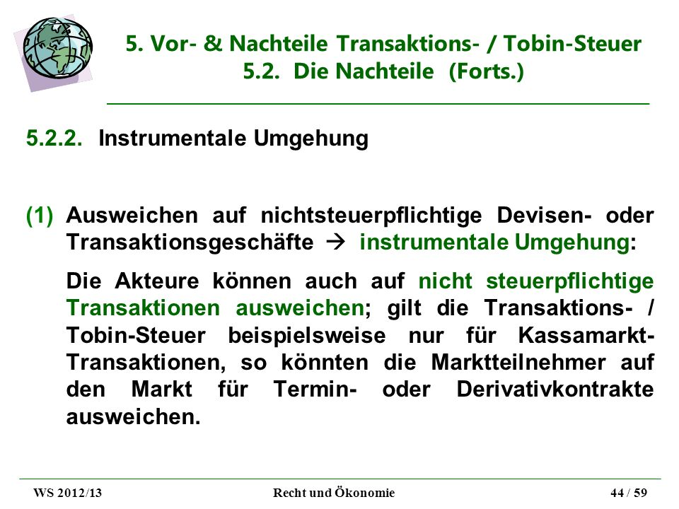 5.2.2. Instrumentale Umgehung
