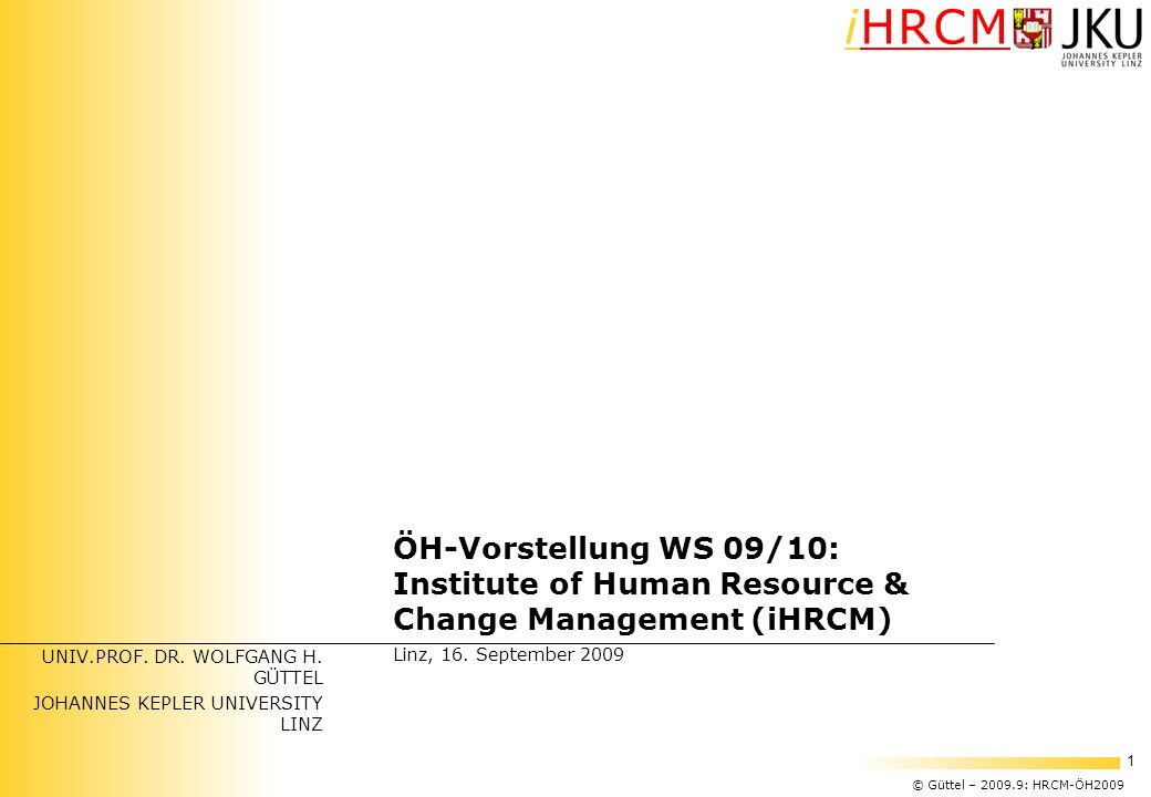 Institute of Human Resource & Change Management (iHRCM)