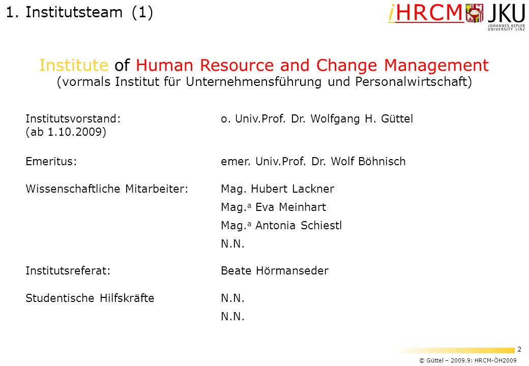 Institute of Human Resource and Change Management