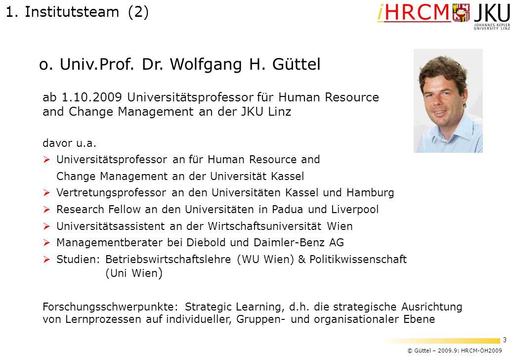 o. Univ.Prof. Dr. Wolfgang H. Güttel