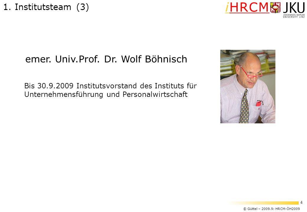 emer. Univ.Prof. Dr. Wolf Böhnisch