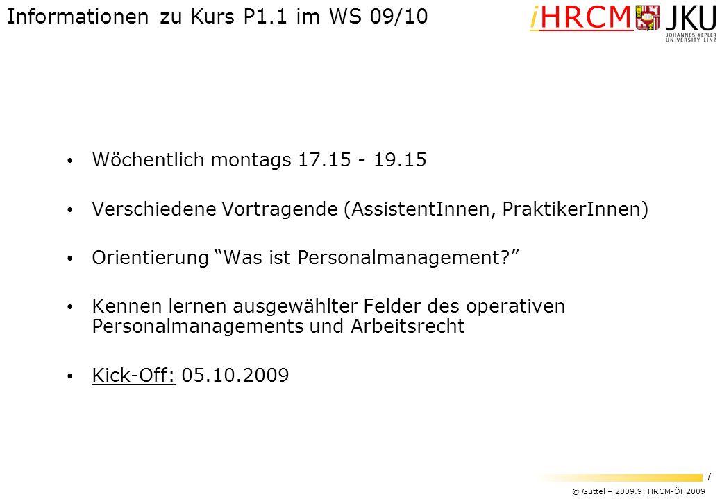 Informationen zu Kurs P1.1 im WS 09/10