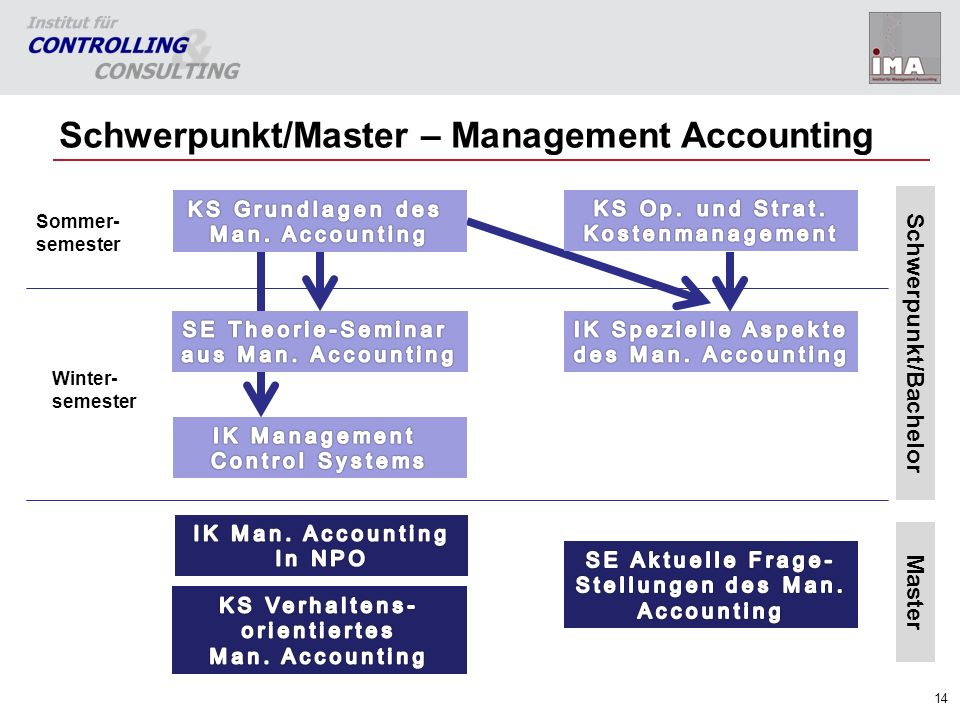 Schwerpunkt/Master – Management Accounting