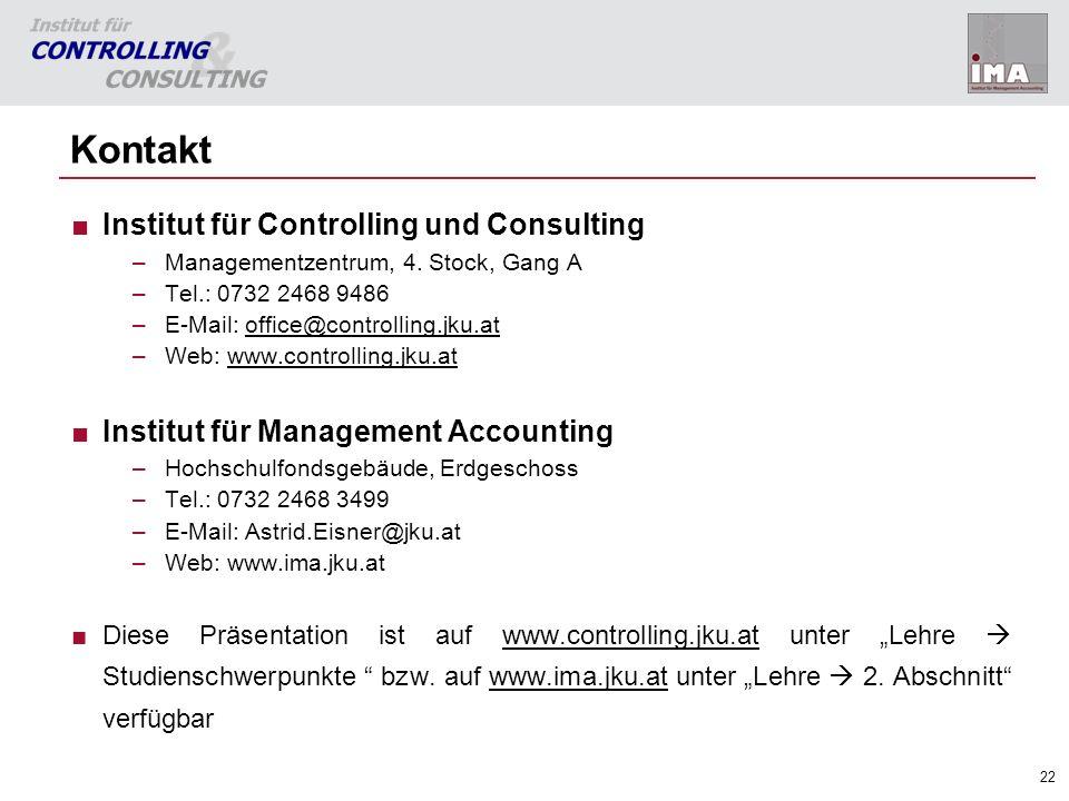 Kontakt Institut für Controlling und Consulting