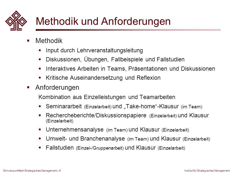 Methodik und Anforderungen