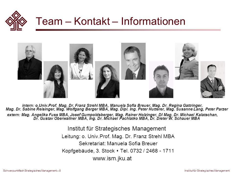 Team – Kontakt – Informationen