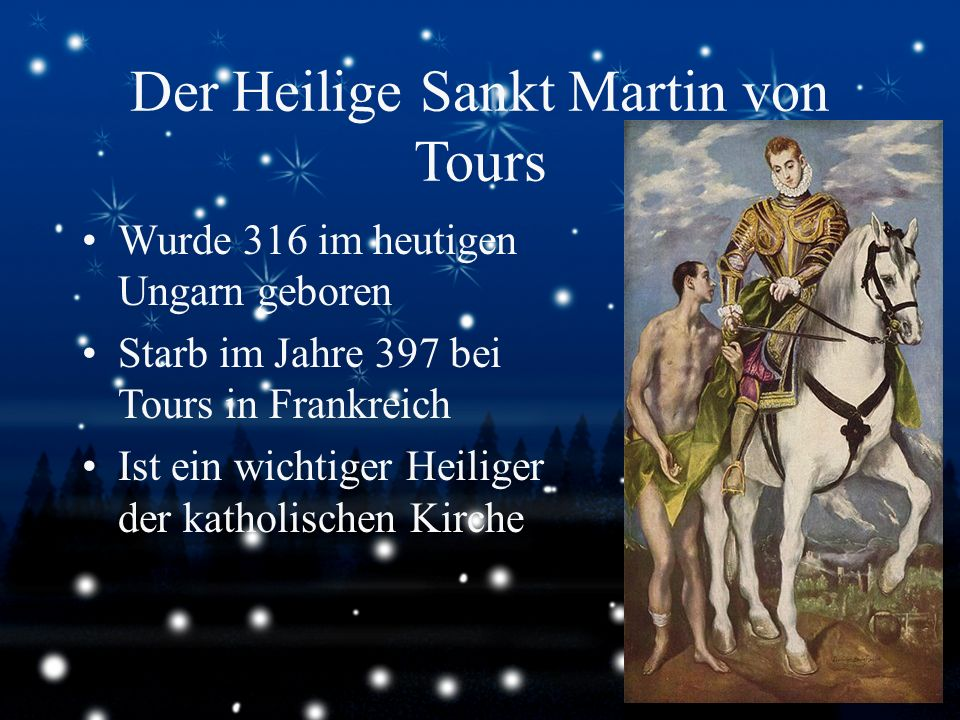 Der Heilige Sankt Martin von Tours