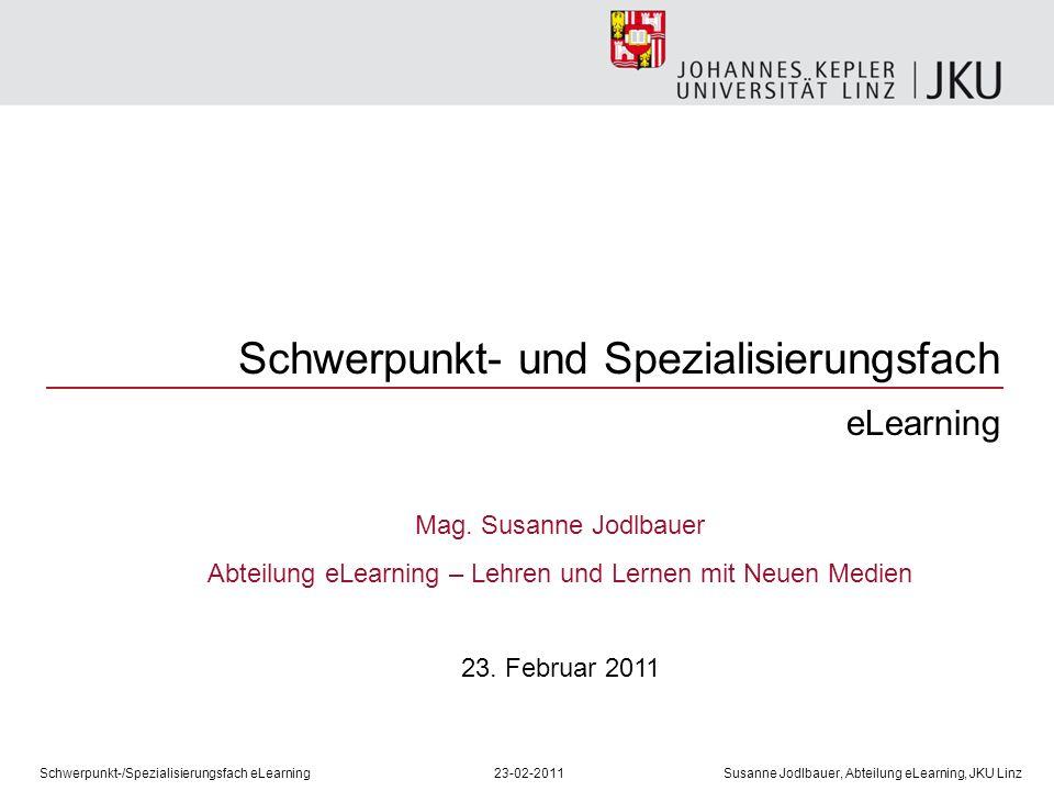 Abteilung eLearning – Lehren und Lernen mit Neuen Medien