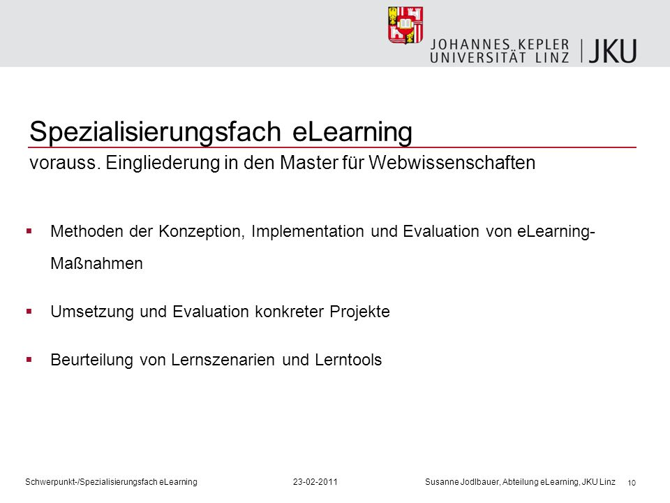 Spezialisierungsfach eLearning vorauss