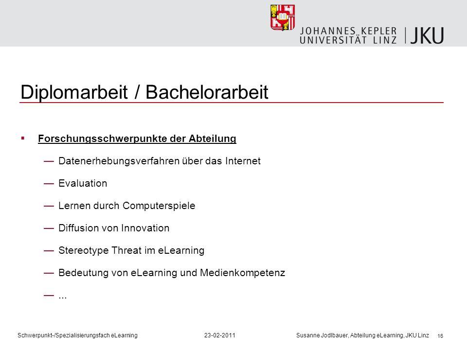 Diplomarbeit / Bachelorarbeit