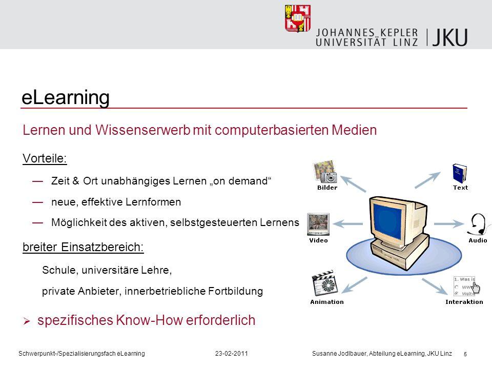 eLearning Lernen und Wissenserwerb mit computerbasierten Medien