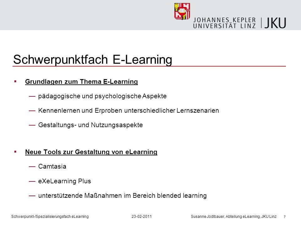 Schwerpunktfach E-Learning