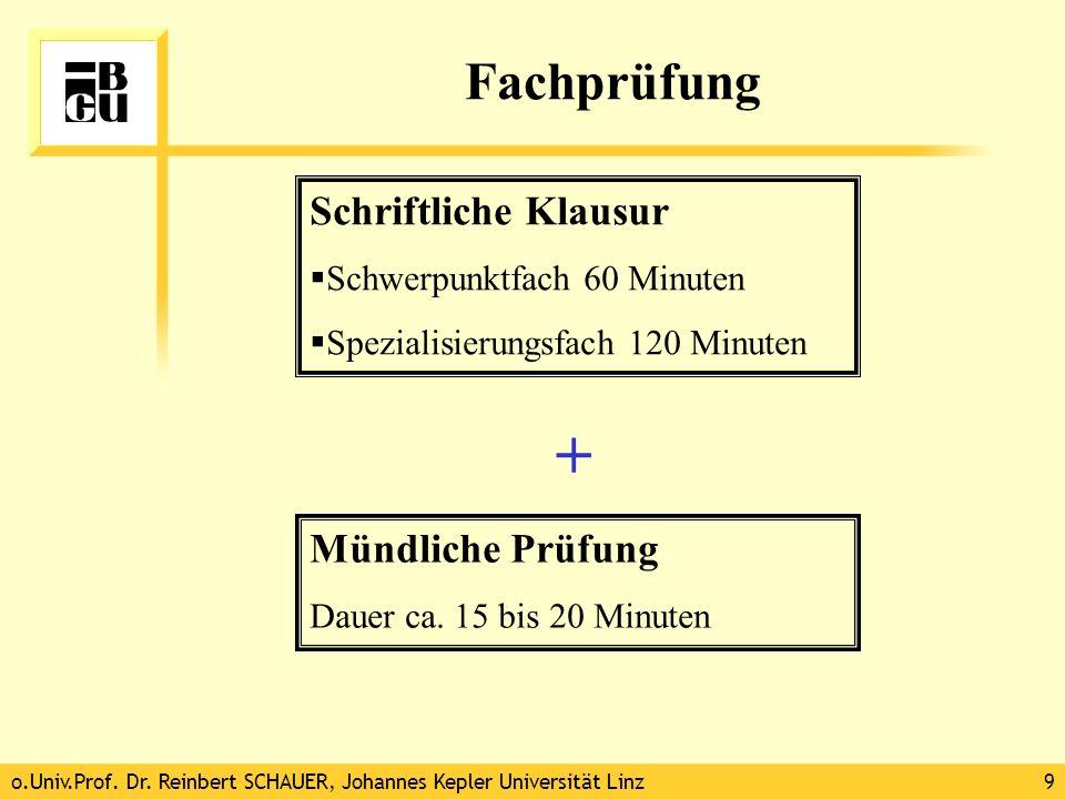 + Fachprüfung Schriftliche Klausur Mündliche Prüfung