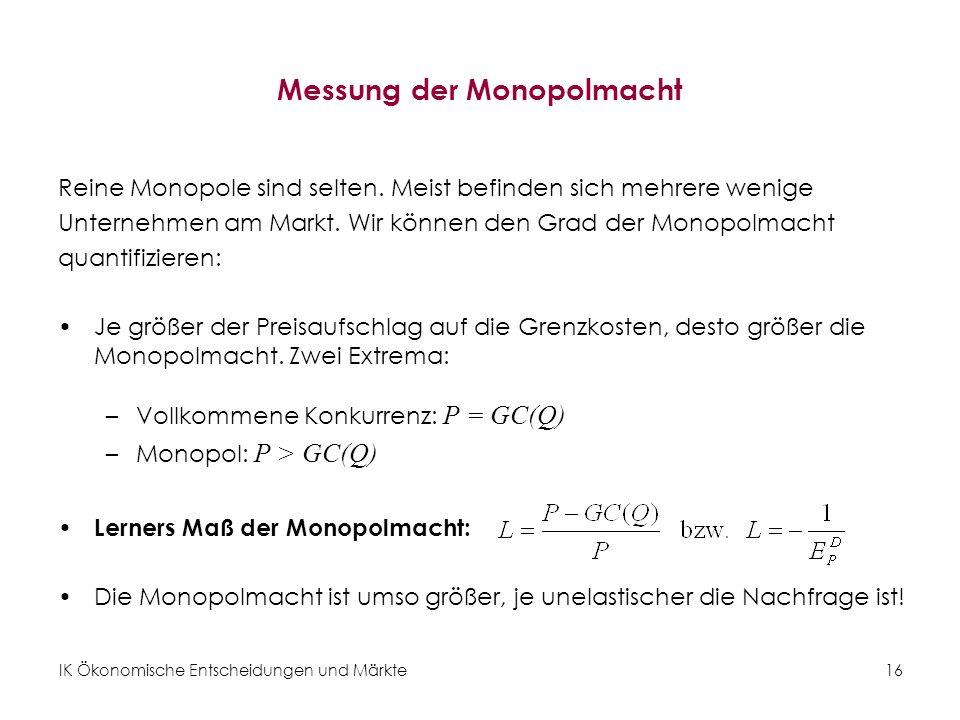 Messung der Monopolmacht