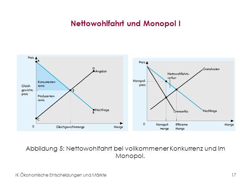 Nettowohlfahrt und Monopol I