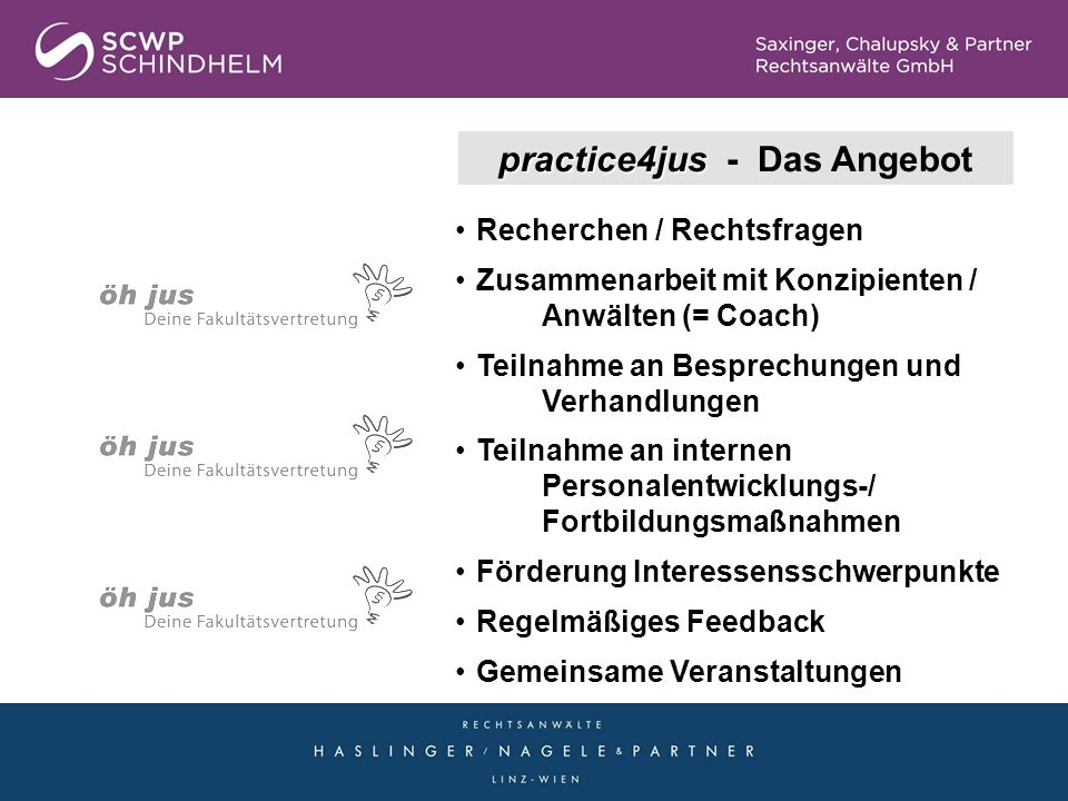 practice4jus - Das Angebot