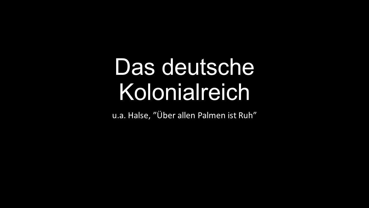 Das deutsche Kolonialreich