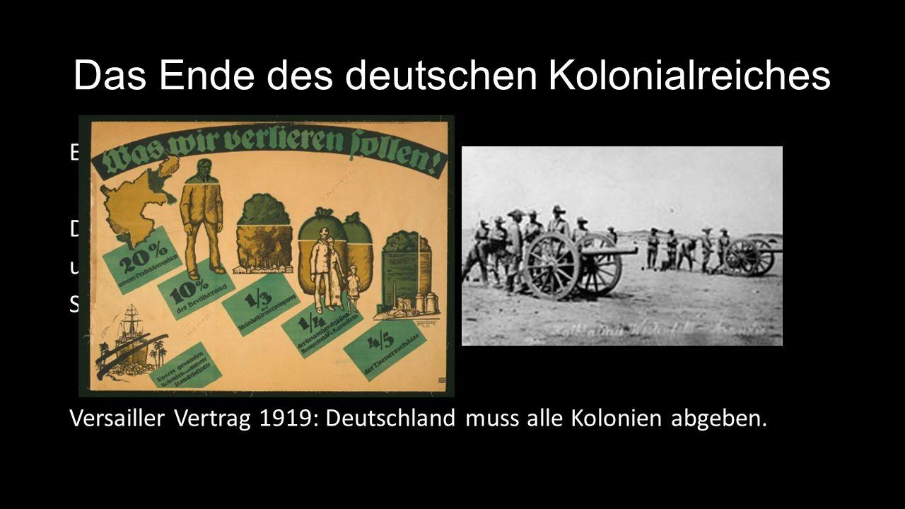 Das Ende des deutschen Kolonialreiches
