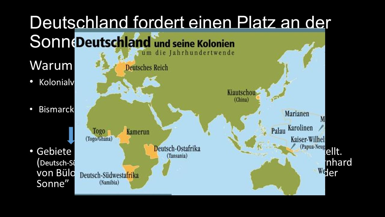 Deutschland fordert einen Platz an der Sonne