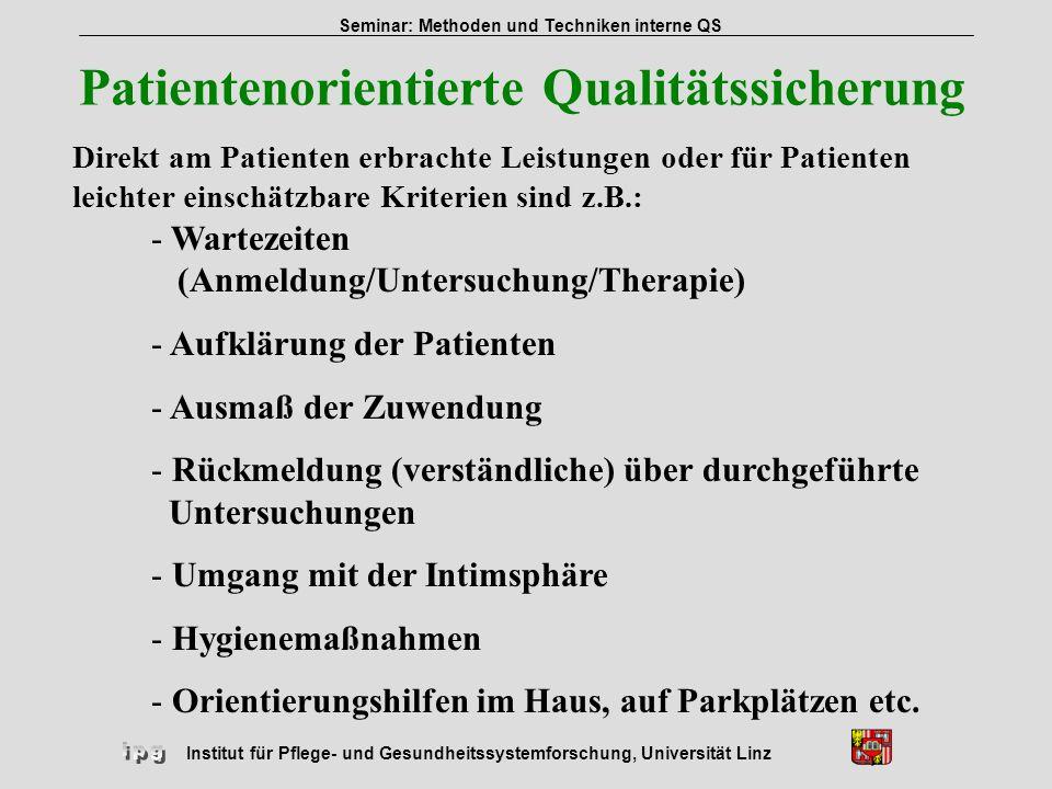 Patientenorientierte Qualitätssicherung