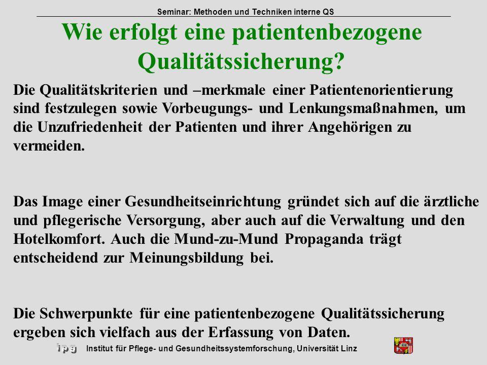 Wie erfolgt eine patientenbezogene Qualitätssicherung
