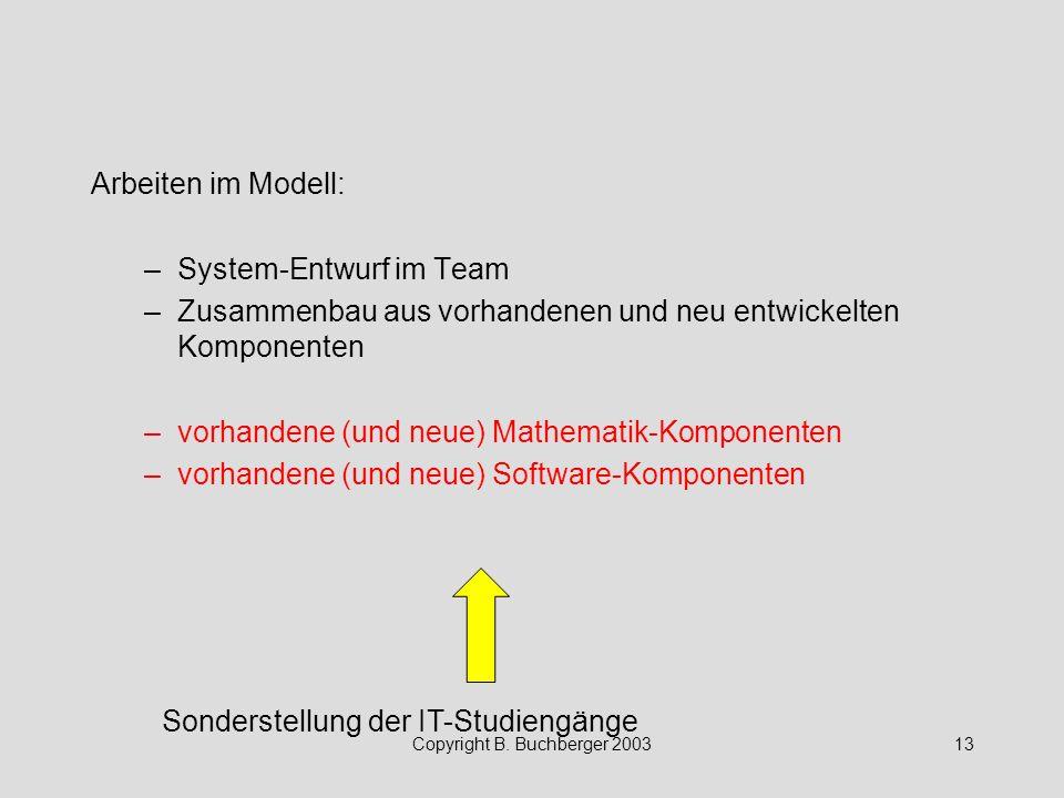Copyright B. Buchberger 2003