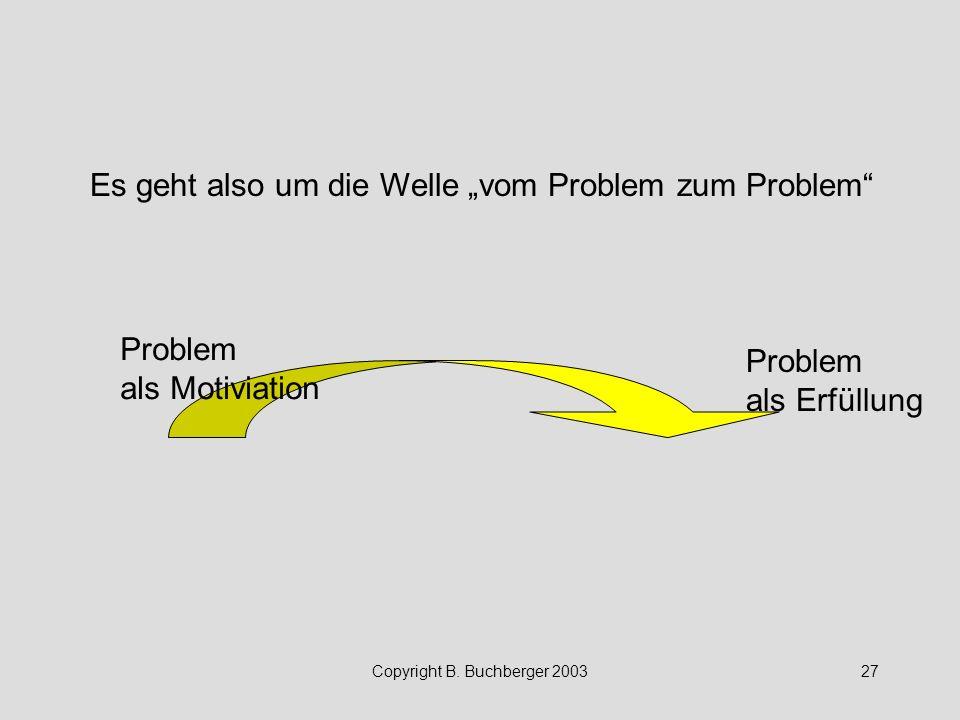 """Es geht also um die Welle """"vom Problem zum Problem"""