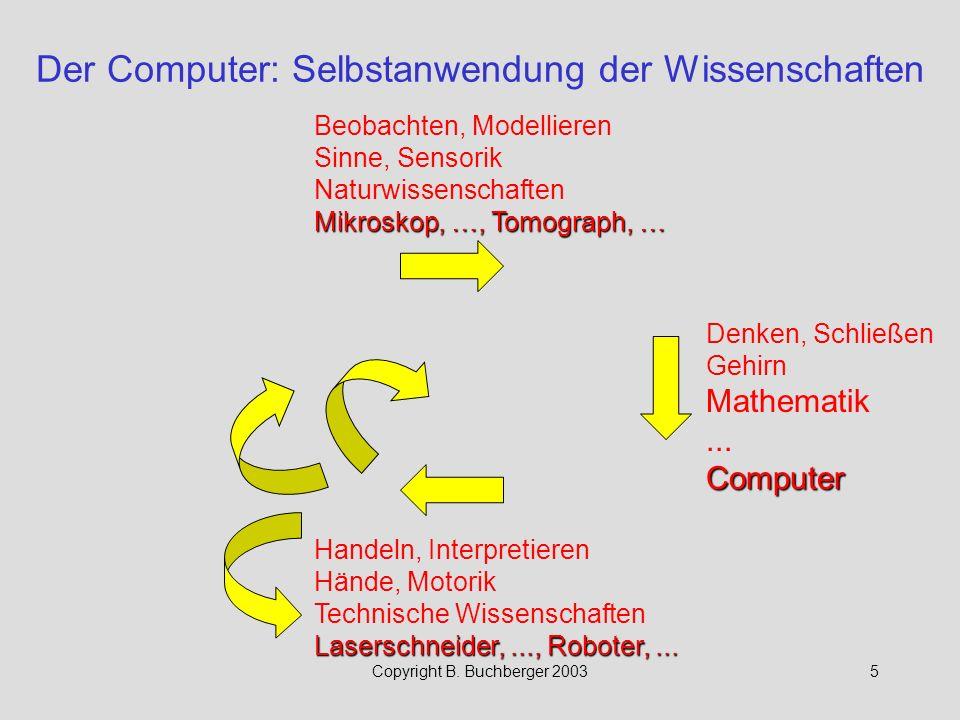 Der Computer: Selbstanwendung der Wissenschaften