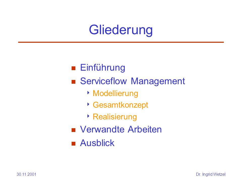 Gliederung Einführung Serviceflow Management Verwandte Arbeiten