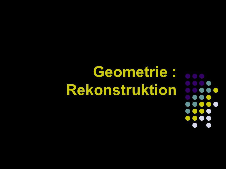 Geometrie : Rekonstruktion