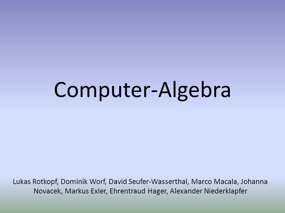 Computer-Algebra