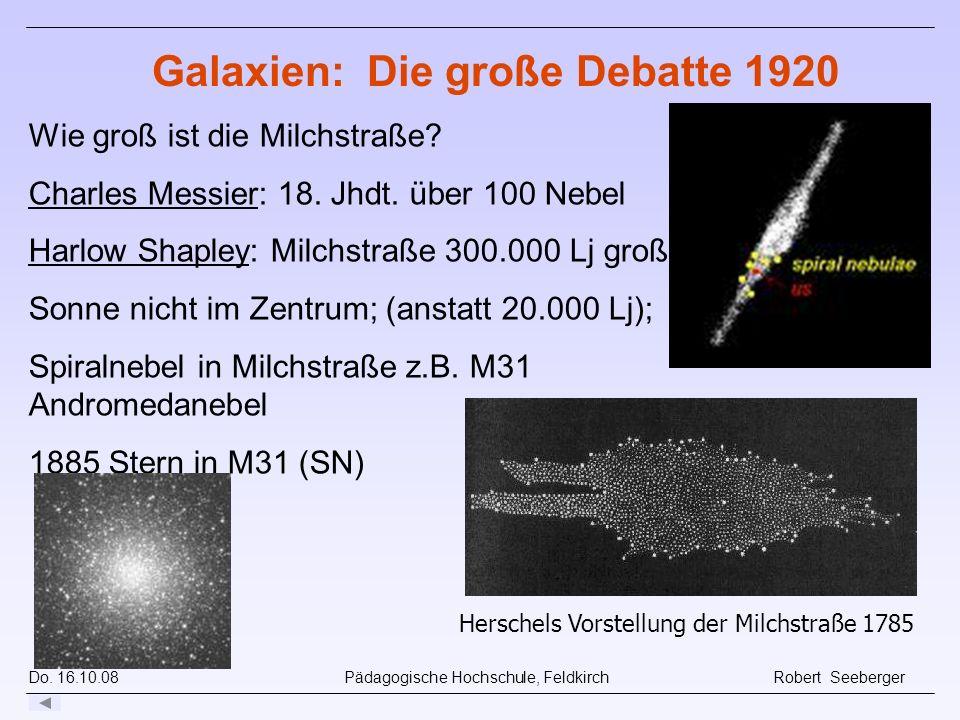 Galaxien: Die große Debatte 1920