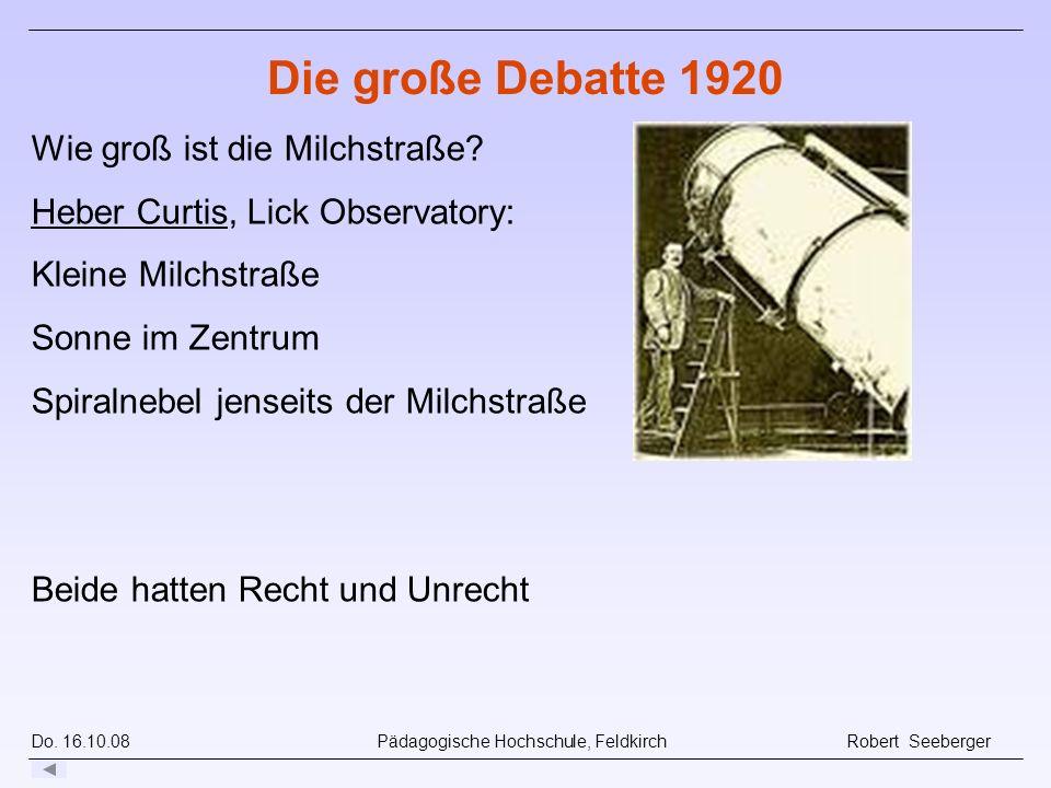 Die große Debatte 1920 Wie groß ist die Milchstraße