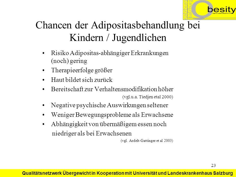 Chancen der Adipositasbehandlung bei Kindern / Jugendlichen