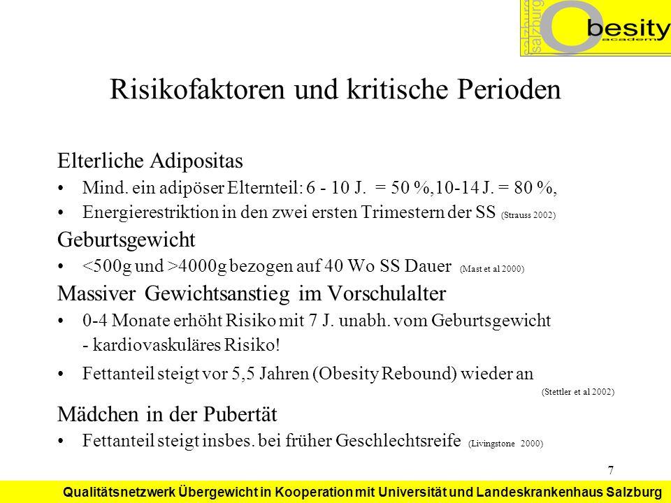 Risikofaktoren und kritische Perioden