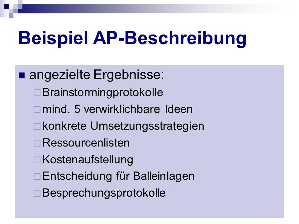 Beispiel AP-Beschreibung