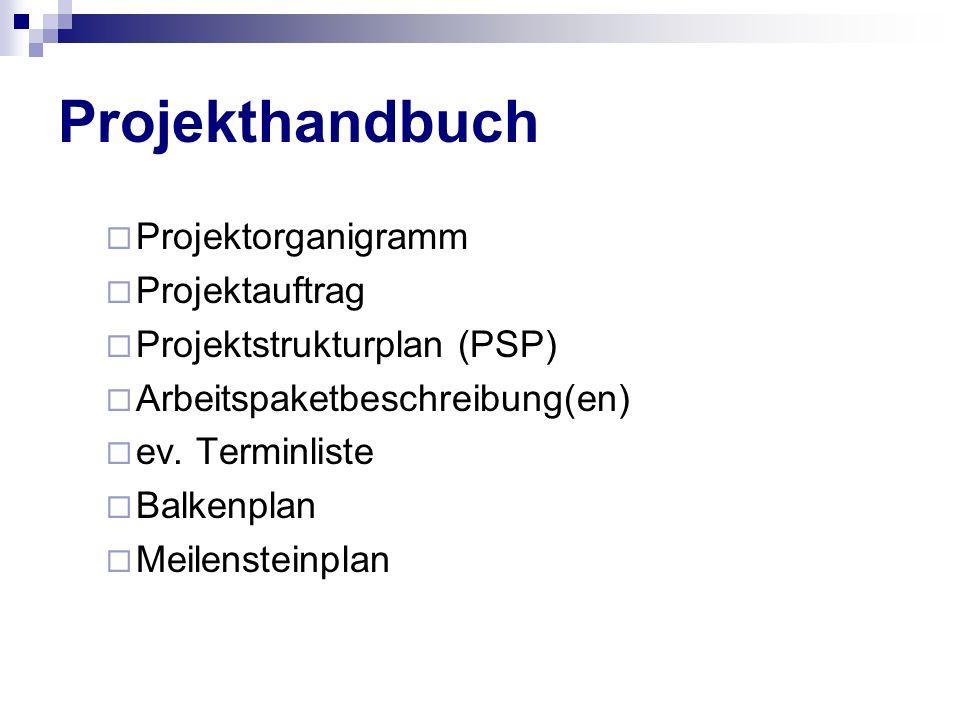 Projekthandbuch Projektorganigramm Projektauftrag