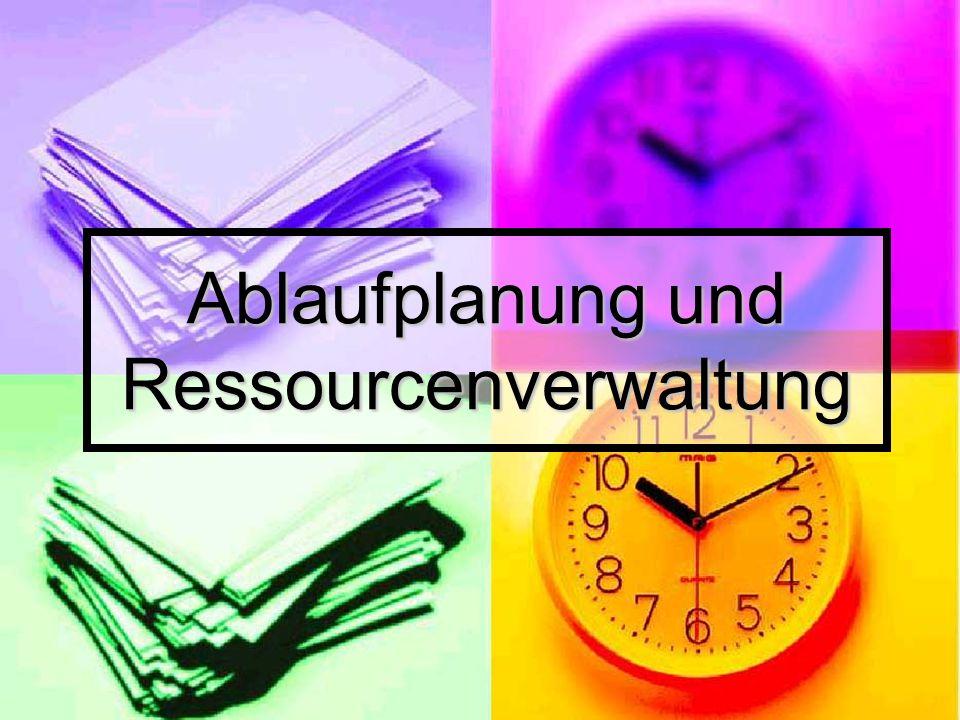Ablaufplanung und Ressourcenverwaltung