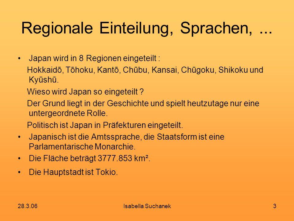 Regionale Einteilung, Sprachen, ...