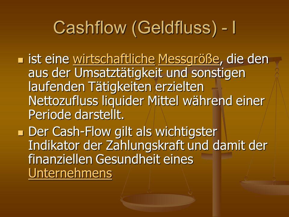 Cashflow (Geldfluss) - I