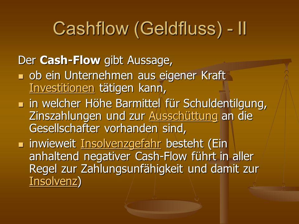 Cashflow (Geldfluss) - II