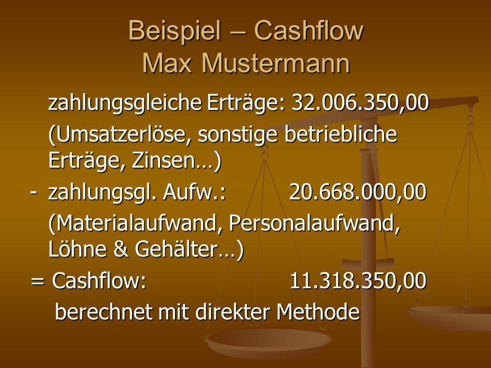Beispiel – Cashflow Max Mustermann