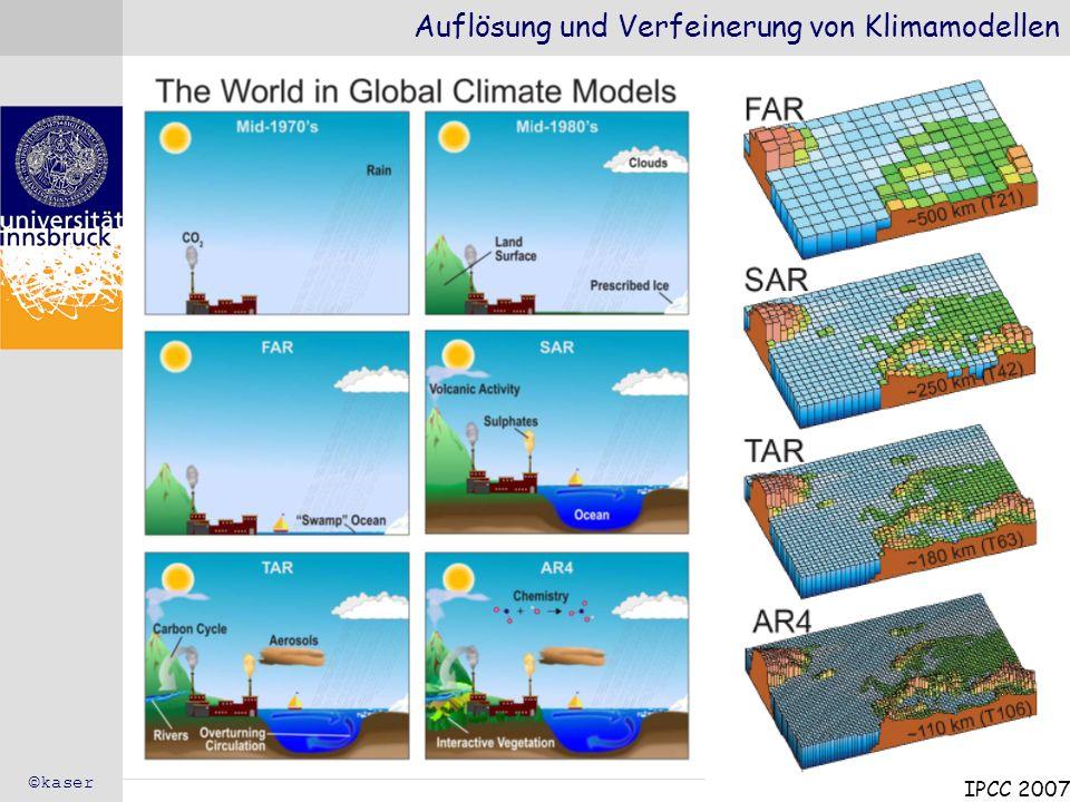 Auflösung und Verfeinerung von Klimamodellen