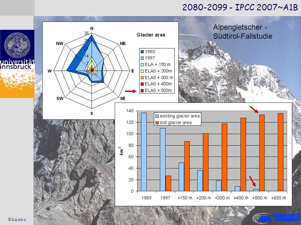 2080-2099 - IPCC 2007~A1B Alpengletscher - Südtirol-Fallstudie ©kaser