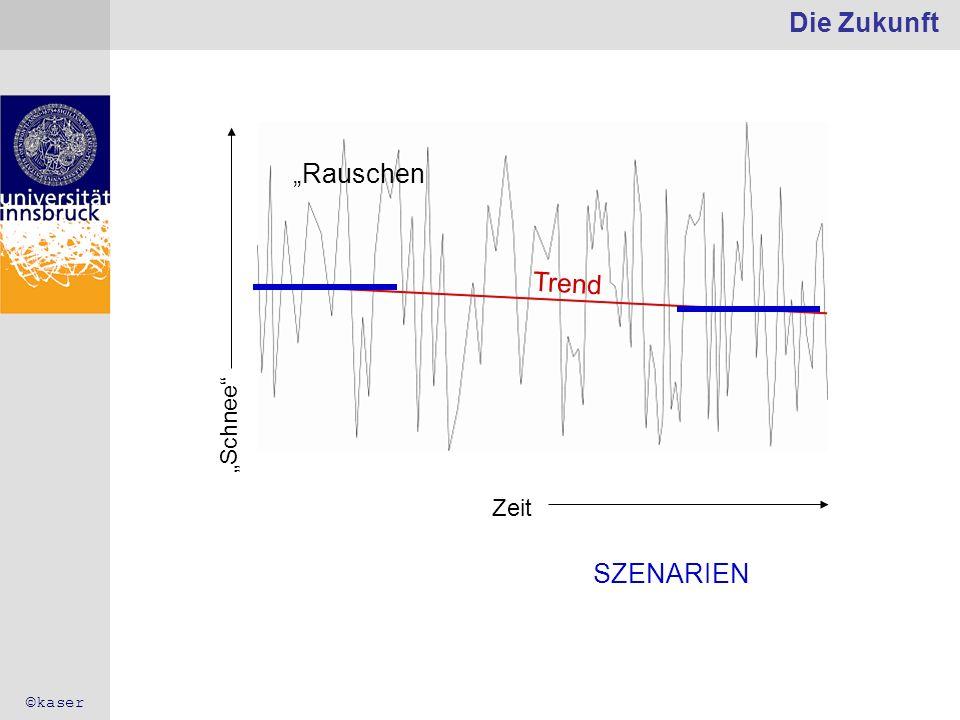 """Die Zukunft """"Rauschen Trend SZENARIEN """"Schnee Zeit ©kaser"""