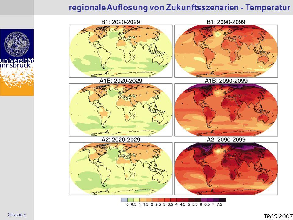 regionale Auflösung von Zukunftsszenarien - Temperatur