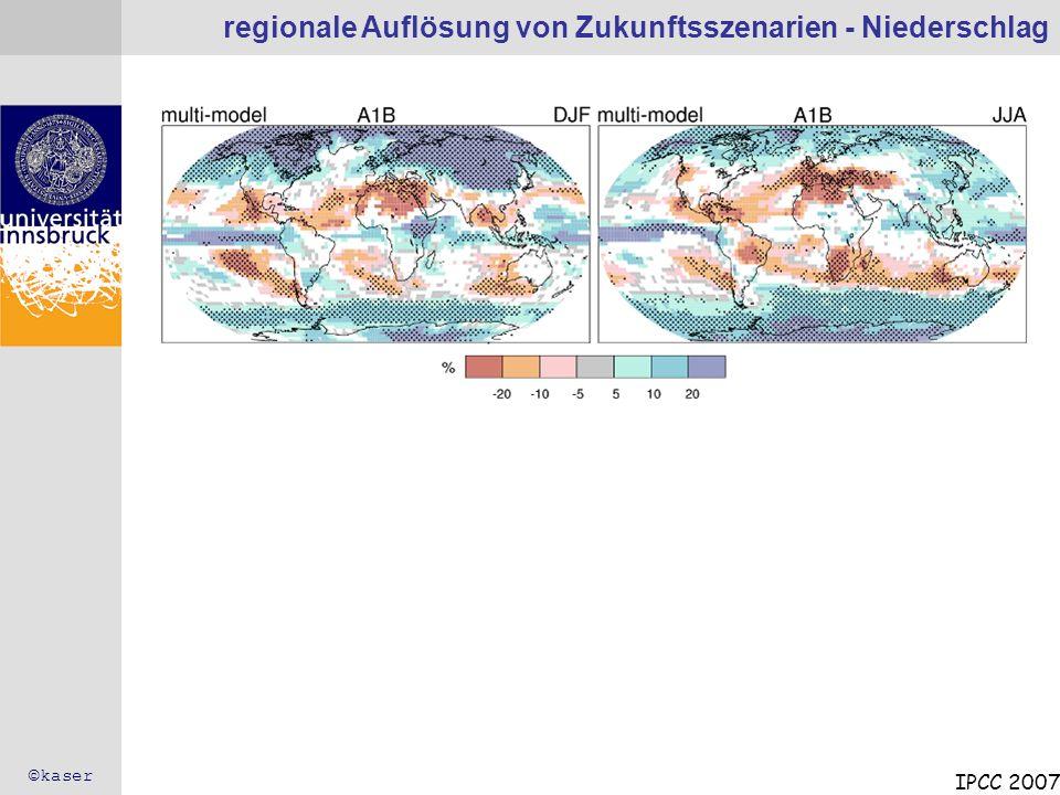 regionale Auflösung von Zukunftsszenarien - Niederschlag
