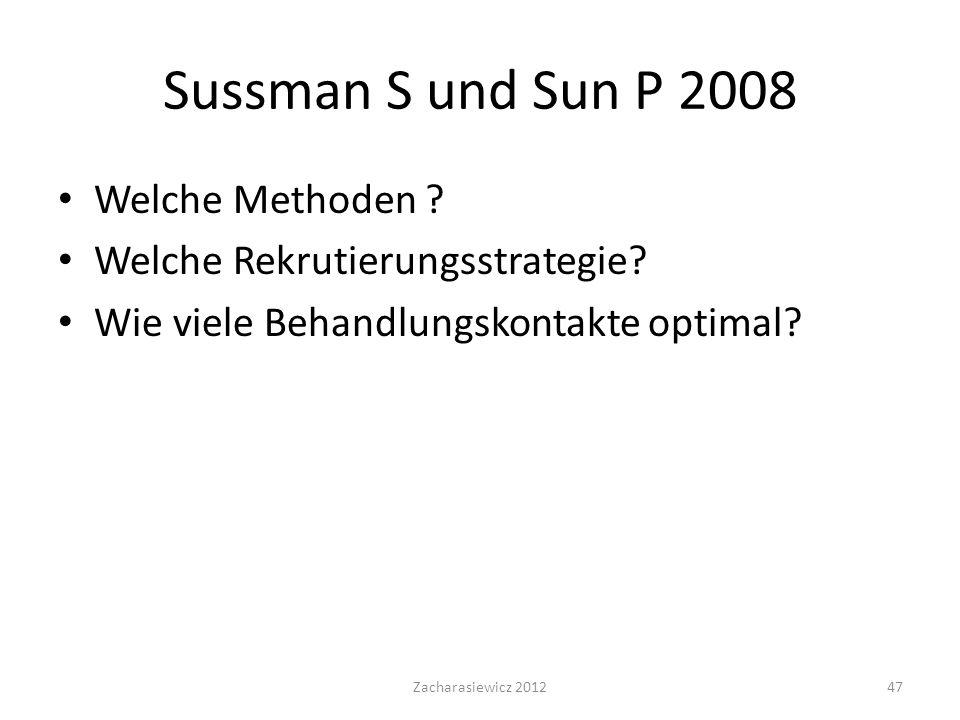 Sussman S und Sun P 2008 Welche Methoden