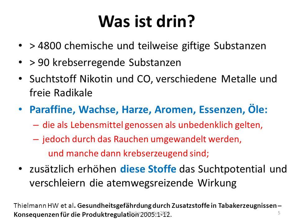 Was ist drin > 4800 chemische und teilweise giftige Substanzen